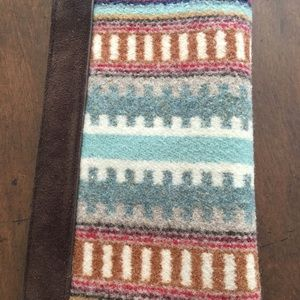 Pendleton leather and wool wallet